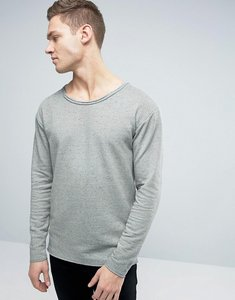 Read more about Jack jones originals sweatshirt with dropped shoulders and raw edges - light grey melange