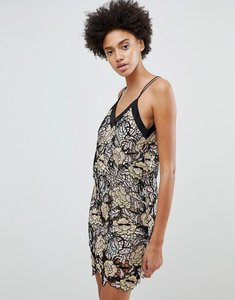 Read more about N12h midnight blooms lace slip dress - lace