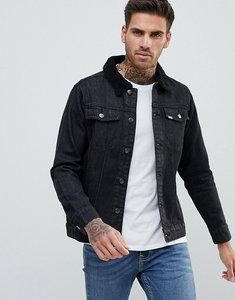 Read more about Ascend denim borg collar denim jacket - black