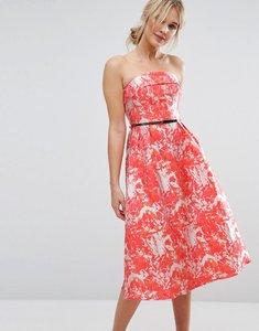 Read more about Little mistress midi dress in jaquard - multi
