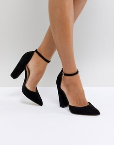 Read more about Aldo nicholes black ankle strap high heeled pointed shoe - black