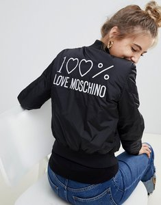 Read more about Love moschino shiny padded bomber jacket - c74