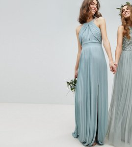 Read more about Tfnc tall pleated maxi bridesmaid dress - green lily