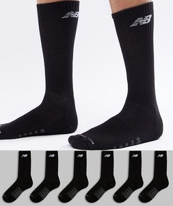 Read more about New balance 6 pack crew socks in black n5050-801-6eu blk - black