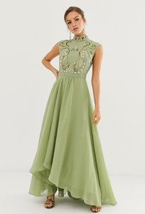 Read more about Asos design maxi dress with embellished mirror bodice