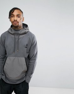 Read more about Timberland oversized hoodie nylon hood front pocket in dark grey - dark shadow