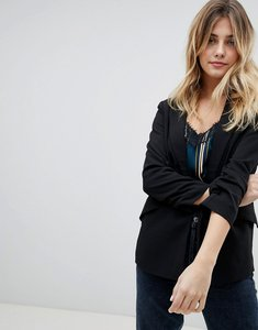 Read more about Only diana 3 4 rouched sleeve blazer - black
