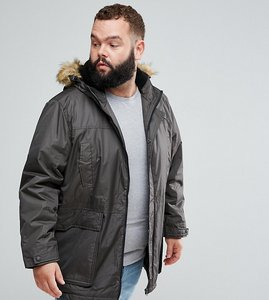 Read more about Duke king size parka jacket in khaki - khaki