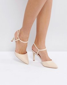Read more about London rebel mid height point high heels - nude micro
