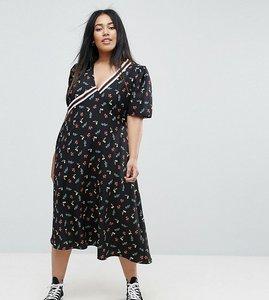 Read more about Asos curve floral ditsy print midi tea dress - multi