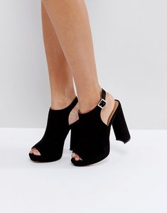 Read more about Asos hail shoe boot platforms - black