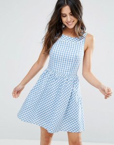 Read more about Louche dustie gingham dress - blue white