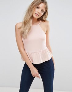 Read more about Miss selfridge peplum hem cami top - pink
