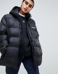 Read more about Adidas originals oversized padded jacket with hood - black