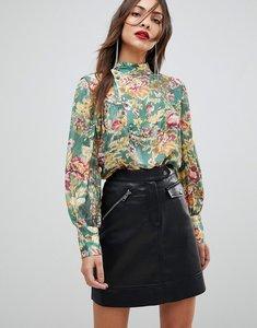 Read more about Mango silk floral blouse - multi