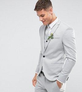 Read more about Noak skinny wedding suit jacket in pale grey - grey