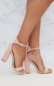 dccf44f8369 asos hayden block heeled sandals nude metallic - Shop asos hayden ...