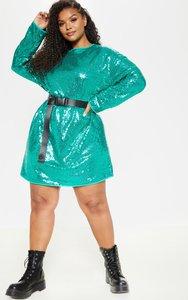 773cb8be4d34 anisha green premium embellished sequin bodycon dress green - Shop ...