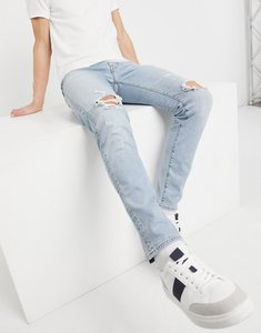 Read more about Abercrombie fitch super skinny distressed jeans in light blue wash