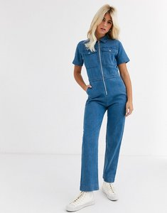 Read more about Abrand kim short sleeve boilersuit-blue