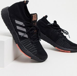 Read more about Adidas running pulseboost trainers in black