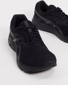 Read more about Asics running gel-pulse 11 trainers in black and grey