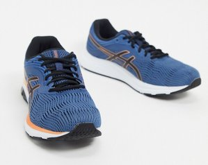 Read more about Asics running gel pulse 11 trainers in blue and orange