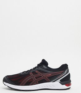 Read more about Asics running gel sileo trainers in black and red