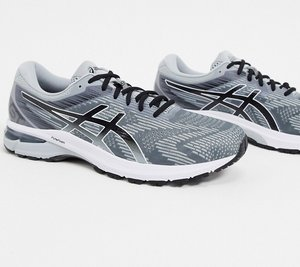 Read more about Asics running gt-2000 8 trainers in grey and black