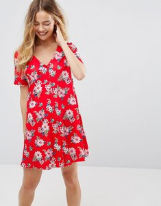 Read more about Asos chuck on dress in red floral print-multi