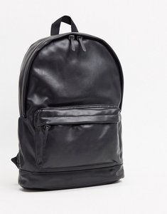 Read more about Asos design backpack in black faux leather
