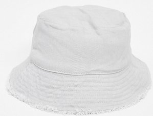 Read more about Asos design canvas bucket hat in grey
