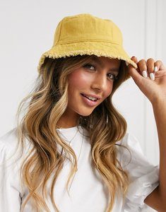 Read more about Asos design canvas bucket hat in mustard-yellow