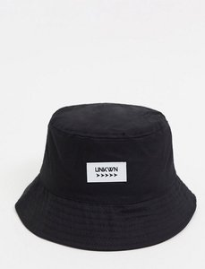 Read more about Asos design canvas bucket hat with logo in black