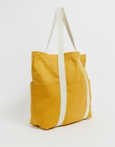 Read more about Asos design canvas shopper-yellow