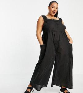 Read more about Asos design curve broderie trim jumpsuit in black