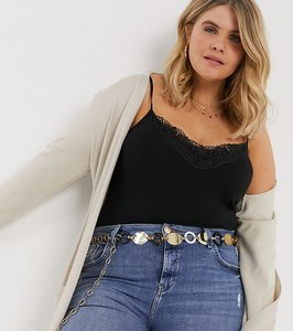 Read more about Asos design curve plate and tort ring chain waist and hip belt-gold