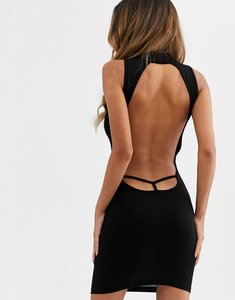 Read more about Asos design going out bodycon mini dress in black