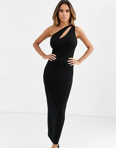 Read more about Asos design going out slash front maxi dress in black