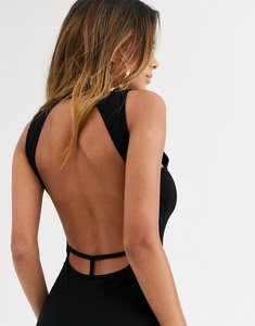 Read more about Asos design going out strap back midi dress in black