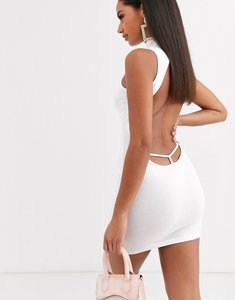 Read more about Asos design going out strap back mini dress in white