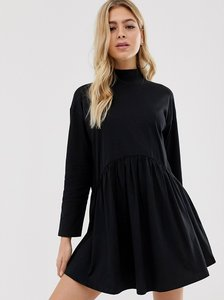 Read more about Asos design high neck curve seam smock dress in black
