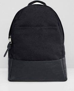 Read more about Asos design large canvas backpack-black