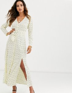 Read more about Asos design midi dress with buckle belt in spot print-multi