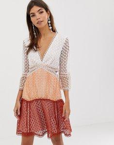 Read more about Asos design mini dress in ombre lace-multi
