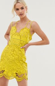 Read more about Asos design mini dress with rope straps in cutwork in embroidery-multi