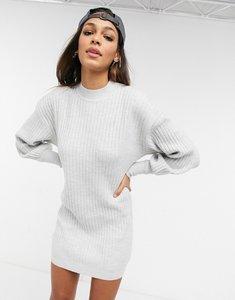 Read more about Asos design mini rib dress in grey marl