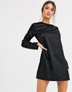 Read more about Asos design mini shift dress with stud embellishment-black