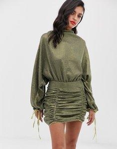 Read more about Asos design oversized mini dress in all over sequin-green