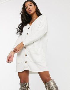 Read more about Asos design oversized super soft button through dress in white